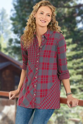 Paramour Plaid Top
