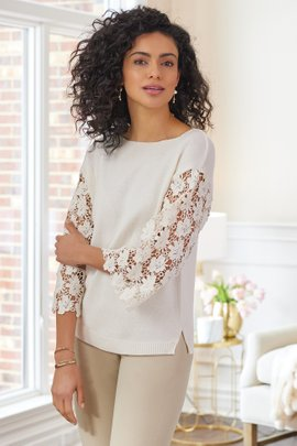 Desiree Eyelet Sweater