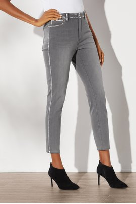 Ultimate Denim High-Rise Foil Skinny Jeans