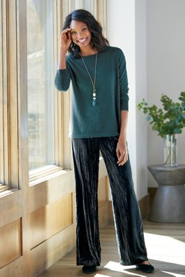Whitby Velvet Wide Leg Pants