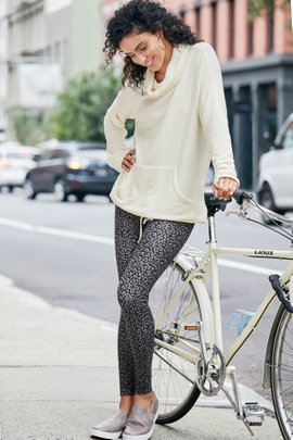 Superslim Grey Leo Leggings