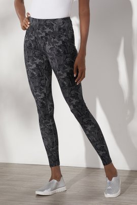 Must-Have Grey Abstract Leggings