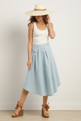 Crescent City Chambray Skirt