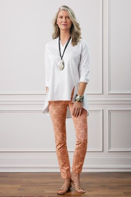 Superla Stretch Pull-On Tile Skinny Ankle Pants