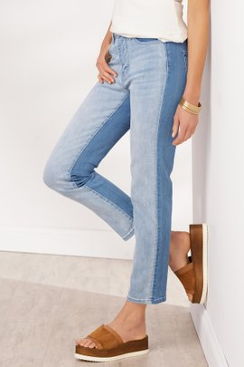 Ultimate Denim Straight Cropped Piece Jeans