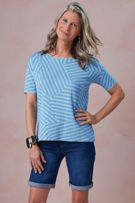 Calliope Stripe Sweater Tee