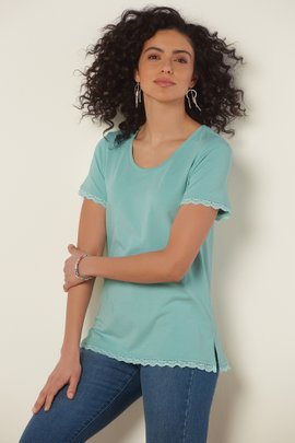 Essential Lace Pima Tee