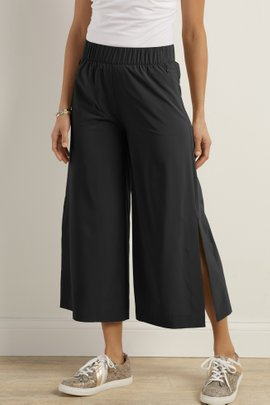 Go Lively Slit Hem Cropped Pants
