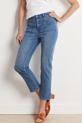 Ultimate Denim High Rise Yoke Crop Jeans