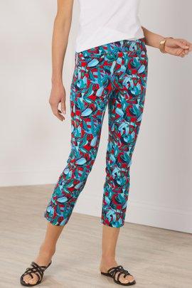 Superla Stretch Pull-On Kalea Straight Leg Crop Pants