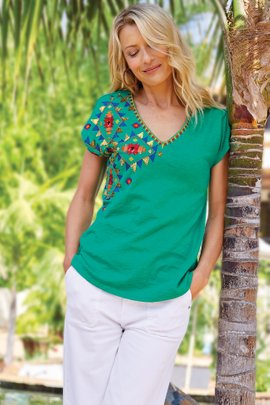 Passion Flower Sequin Tee