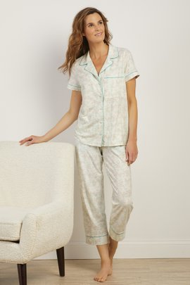 Garden Party Cropped PJ Set