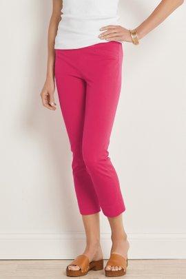 Superla Stretch Pull-On Straight Leg Crop Pants