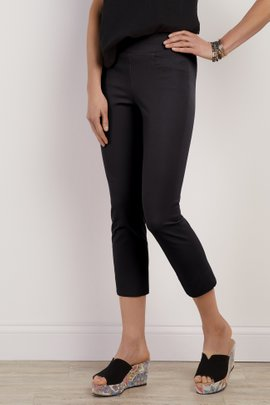 Superla Stretch Pull-On Straight Leg Crop Pants