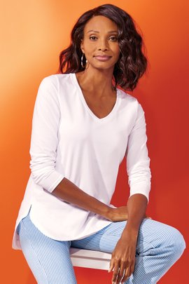 Isabel Pima Long Sleeve Tee