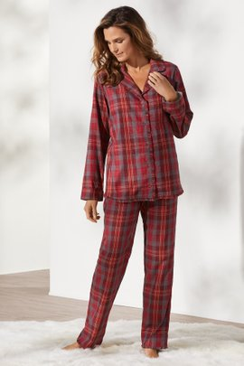 Night Divine Plaid Flannel PJ Set