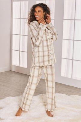 Night Divine Plaid Flannel PJ Set