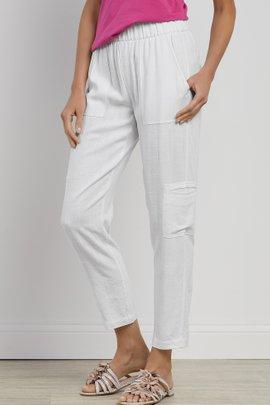 Summer Breeze Gauze Crop Pants