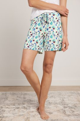 Blissful Bamboo Bouquet Shorts