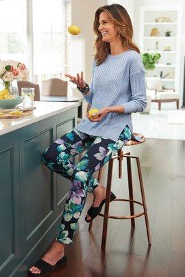 Superla Stretch Pull-On Amaryllis Skinny Ankle Pants