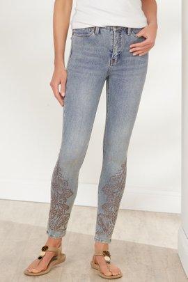 Ultimate Denim Studded Ankle Jeans