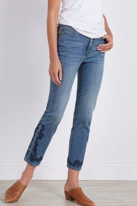 Ultimate Denim High-Rise Embellished Jeans