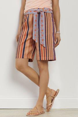 Summer Breeze Stripe Linen Shorts