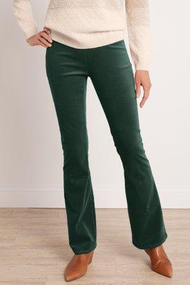 Corduroy Pull-On Flare Pants
