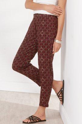 Summer Breeze Printed Gauze Crop Pants