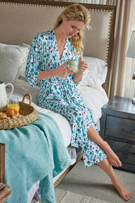 Blissful Bamboo Floral Robe