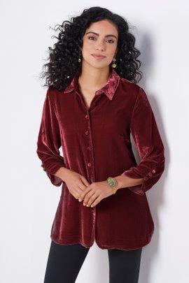 Icon Silk Velvet Poets Shirt