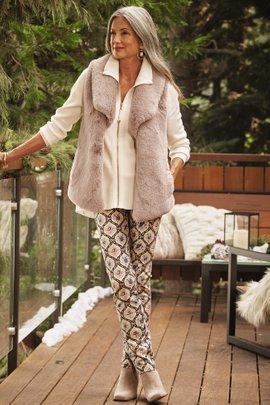 Perfect Ponte Pull-On Straight Leg Rockcress Pants