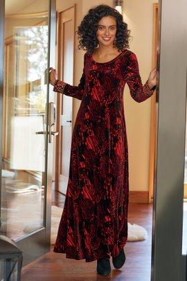 Santiago Velvet Embellished Dress