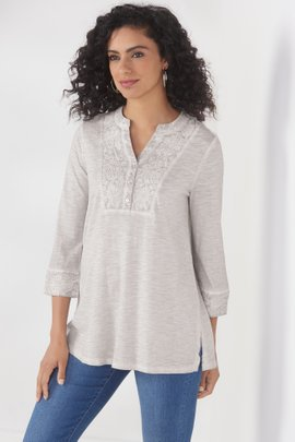 Plume & Blume Embroidered Tunic