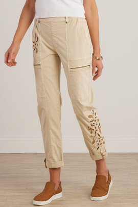 Everything Under the Sun Embroidered Cargo Pants I