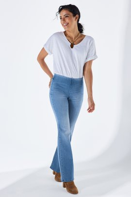 Supremely Soft Pull-On Bootcut Jeans