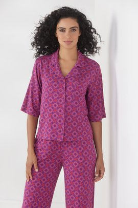 Blissful Bamboo Dreaming Violet Top