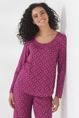 Blissful Bamboo Dreaming Violet Long Sleeve Top
