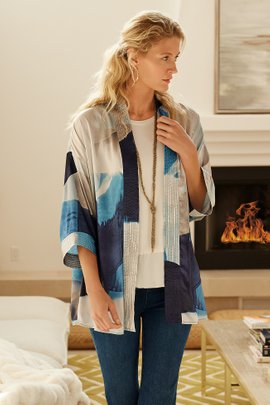 Glories Abstract Kimono