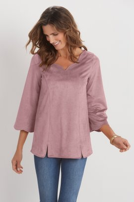 Wishing Bell Faux Suede Top