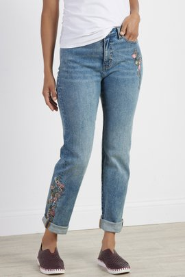 Ultimate Denim Embellished Girlfriend Jeans