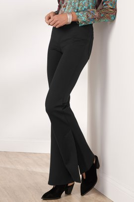Perfect Ponte Flared Slit-Leg Pants