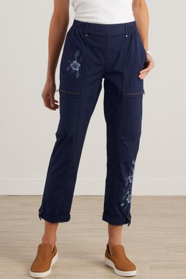 Everything Under the Sun Embroidered Pants