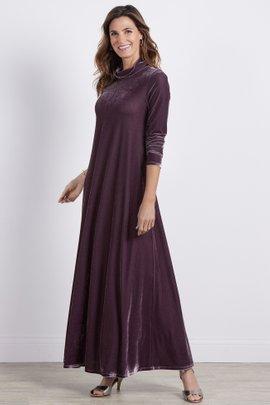 Velvet Turtleneck Santiago Dress
