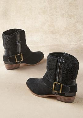 Western-Style Suede Booties