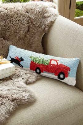 Home for Christmas Hook Pillow
