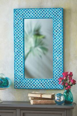 Quatrefoil Bordered Mirror