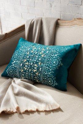 Taj Embroidered Velvet Pillow