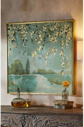 Hand-Painted Serenity at Lovell Framed Art