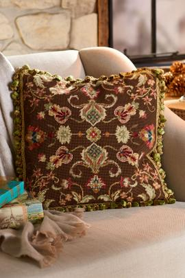 Jardin d'Automne Needlepoint Pillow